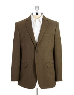 Black Brown 1826  - Twill Suit Coat