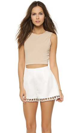 AIR by Alice + Olivia - Twist Back Crop Top