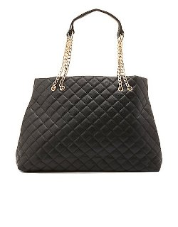 Charlotte Herusse - Chain Strap Quilted Tote Bag