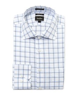 Neiman Marcus - Trim-Fit Plaid Dress Shirt