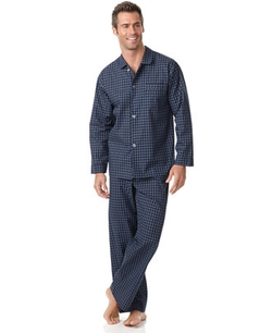 Club Room - Check Shirt and Pants Pajama Set