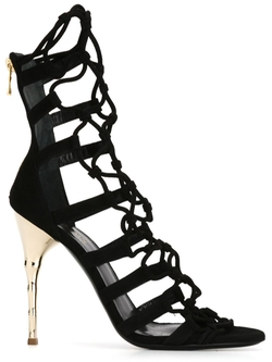 Balmain   - Cut Out Detail Sandals