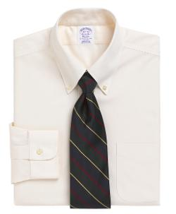 BROOK BROTHERS - Non-Iron Regular Fit Button-Down Collar Dress Shirt