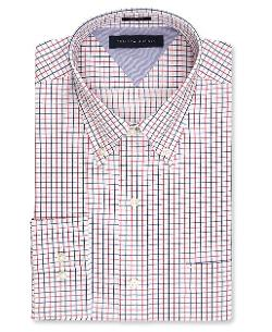 Tommy Hilfiger  - Big and Tall Tattersal Dress Shirt