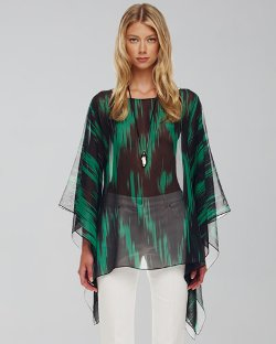 Michael Kors   - Printed Sheer Tunic