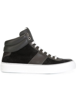 Jimmy Choo  - Bells Mid Top Leather Sneakers