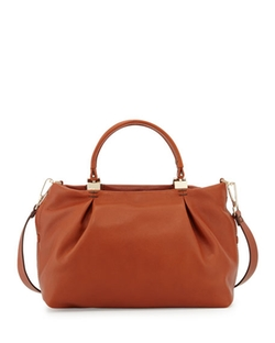 Kooba - Loretta Leather Satchel Bag, Cognac														 Loretta Leather Satchel Bag