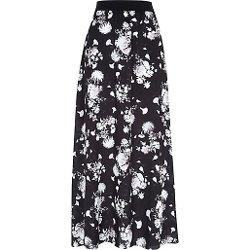 River Island - Black Floral Print Maxi Skirt