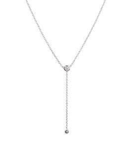 Lord & Taylor - Silver Y Necklace