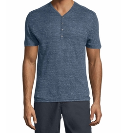 John Varvatos Star USA - Short-Sleeve Henley Shirt