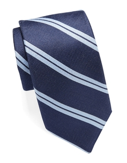 Michael Kors  - Striped Silk And Wool Tie