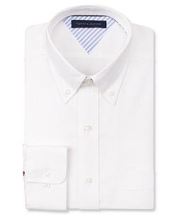 TOMMY HILFIGER - White Solid Dress Shirt