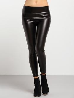 Romwe - Leather Skinny Leggings