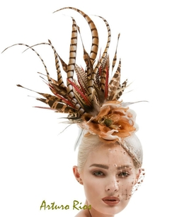 Arturo Rios - Pheasant Feathers Fascinator Headpiece