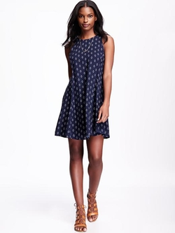 Old Navy - Sleeveless Printed Swing Dress