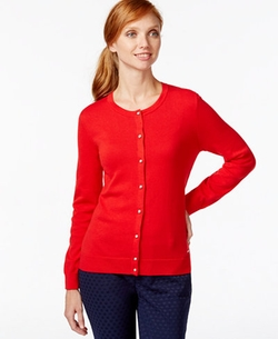 Tommy Hilfiger  - Embellished Button-Down Cardigan