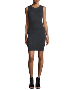 ATM - Ribbed Knit Sleeveless Sweaterdress
