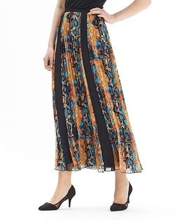 Joanna Hope - Print Pleated Maxi Skirt