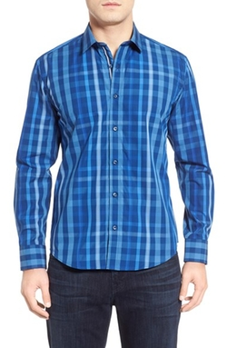 Bugatchi - Classic Fit Long Sleeve Check Sport Shirt
