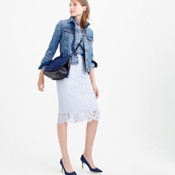 J.Crew - Collection Lace Pencil Skirt