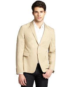 Prada  - Sport Khaki Textured Cotton 2 Button Jacket