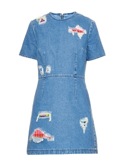 House of Holland - Distressed Denim Dress
