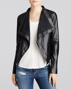 BB Dakota - Drapey Faux Leather Jacket