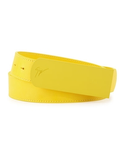 Giuseppe Zanotti - Leather Matte-Buckle Belt