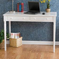 Wildon Home - Hull Crisp White 2-Drawer Writing Desk