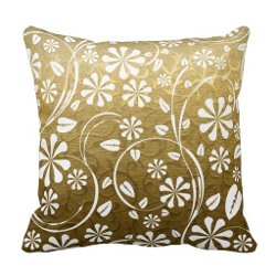Zazzle - Gold Brocade Throw Pillows