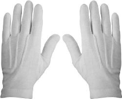 Go Gloves - White or Black Cotton Gloves