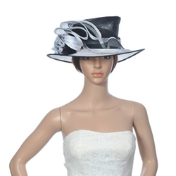 Topwedding  - Sinamay Wedding Church Derby Hat