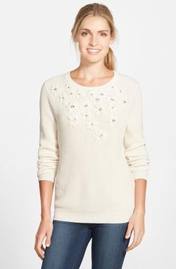 Vince Camuto - Embellished CrewneckSweater