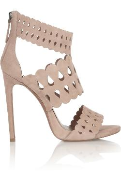 Alaïa  - Cutout suede sandals
