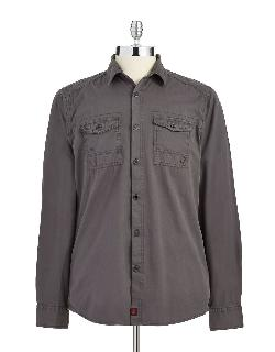 STRELLSON - Solid Button-Down Shirt