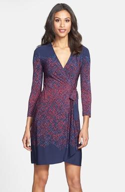 BCBG MAXAZRIA - Engineered Print Matte Jersey Wrap Dress