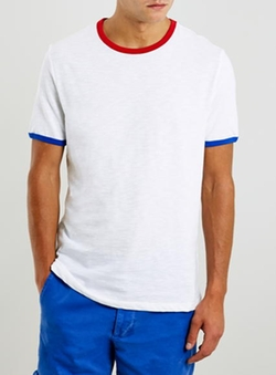 Topman - Three Coloured Ringer T-Shirt