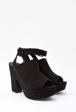 Forever21 - Faux Suede Platform Sandals