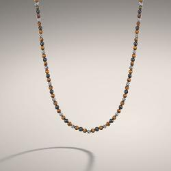 John Hardy Classic Chain Collection - Round Beads Necklace with Black Onyx and Tiger Eye