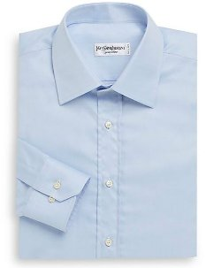 Yves Saint Laurent - Solid Cotton Dress Shirt