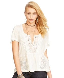 Denim & Supply Ralph Lauren - Lace Pintucked Top