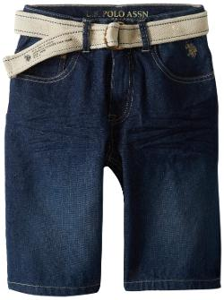 U.S. Polo Assn.  - Boys 8-20 Belted 5 Pocket Denim Shorts