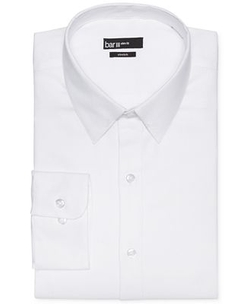 Bar Iii - Slim-Fit Diamond Textured Solid With Collar Bar Dress Shirt
