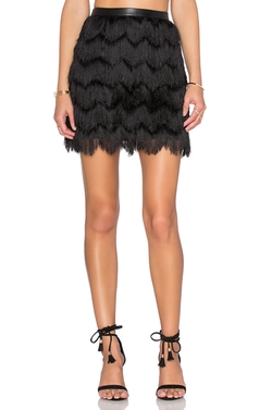 Sam Edelman - Fiona Feather Fringe Mini Skirt