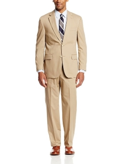 Palm Beach - Boone Khaki Poplin Center Vent Suit
