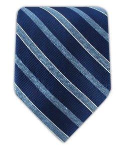 The Tie Bar  - Linen Blend Archive Stripe Necktie