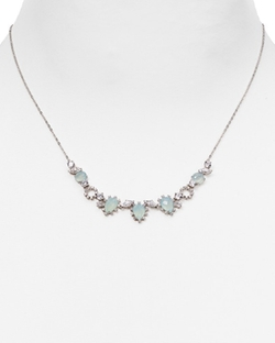 Nadri  - Sterling Lashout Chalcedony Frontal Necklace