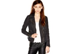 Free People  - Zip Bucklet Denim Moto Jacket