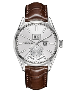 Tag Heuer - Mens Carrera Calibre Watch With Brown Leather Strap
