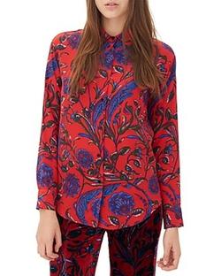 Sandro - Constante Floral Print Silk Shirt